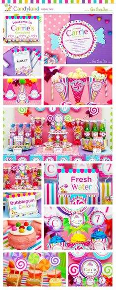 Candyland Birthday Party Package Collection