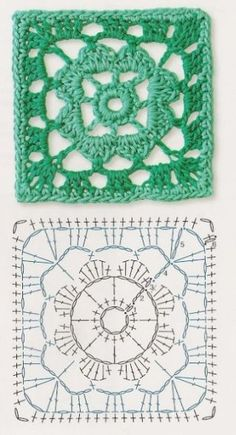 Transcendent Crochet a Solid Granny Square Ideas. Inconceivable Crochet a Solid Granny Square Ideas. Crochet Motif Patterns, Crochet Blocks, Granny Square Crochet Pattern, Crochet Mandala, Crochet Diagram, Crochet Chart, Crochet Squares, Crochet Granny, Crochet Stitches