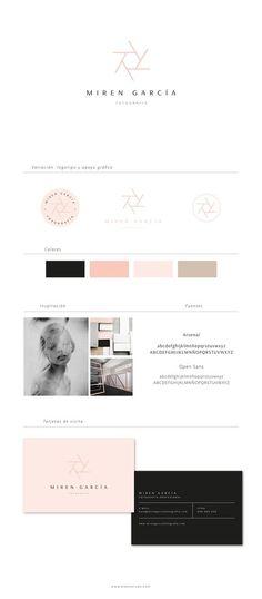 Miren García - Diseño de logotipo y diseño web - Blanco Ruso Diseño