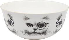 Rory Dobner Cat Illustration Serving Bowl