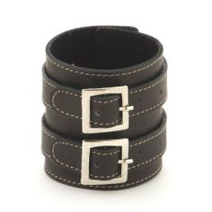 Black ring buckle 70mm leather wristband bracelet by 81stgeneration 81stgeneration. $15.98. Fast Shipping to USA, we aim to deliver from 3 to 10 working days. Items will be dispatched within 24 hours