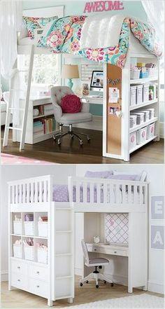 5 maneras inteligentes para ahorrar espacio en la habitación un pequeño Niños 5