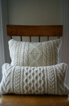 New Crochet Pillow White Cable Knit 29 Ideas
