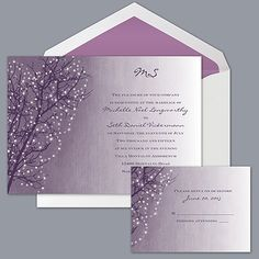 Sparkling Sky - Plum - Invitation