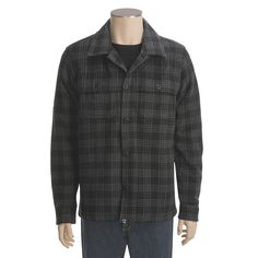 Gramicci Chandler Shirt Jacket - Wool (For Men) in Black Plaid