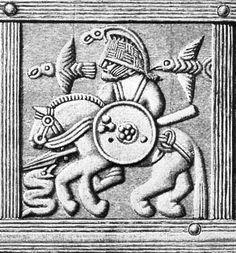 Vendel Royal Helmet Plate (900 AD) Odin and his ravens