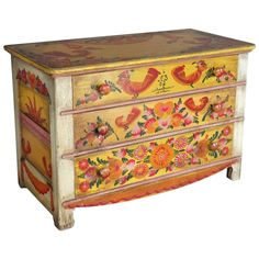 Rare and Scarce Cape Cod Folk Art Modernist Chest of Drawers by Peter Hunt ca.1957   From a unique collection of antique and modern painted furniture at https://www.1stdibs.com/furniture/folk-art/painted-furniture/