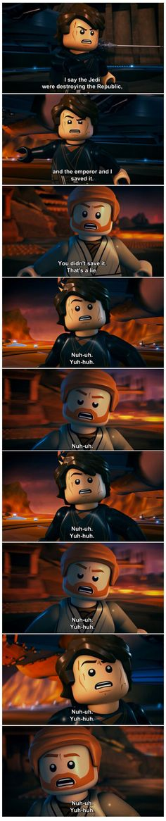 The Lego Star Wars version of Mustafar