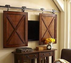 Exceptionnel Rolling Cabinet Media Solution From Pottery Barn. Like The Idea.