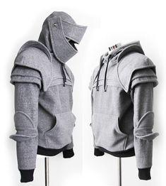 Modèle trouvé sur internet sur le site : http://www.topito.com/shopping/un-pull-armure-avec-capuche-de-chevalier