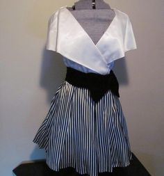 Vtg Satin Velvet Semi Formal Dress USA 10 Black by ThenForNow