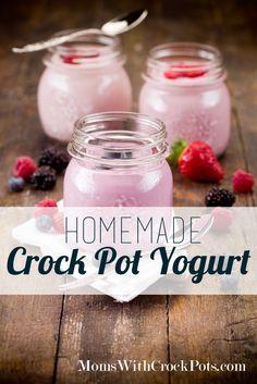 Csak 2 hozzávalókat!  Készítsd el saját joghurtot a cserépedény pot!  Olyan egyszerű!  #recipe