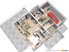 Pow. użytkowa119,6 m² Min. szer. działki20,17 m Wysokość budynku8,75 m Pow. zabudowy121,7 m² Kubatura437,6 m³ Kąt nach. dachu40° Pow. dachu200,5 m² Liczba pokoi4 (3 + 1 na parterze) Stan. garażowe Colors, Places