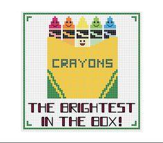 PDF Pattern Crayons Cross Stitch Pattern by mydarlingplum on Etsy