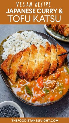 Japanese Tofu Katsu in Curry (Vegan Recipe) - vegan delights - . - Japanese Tofu Katsu in Curry (Vegan Recipe) – vegan delights – delicaci - Vegan Dinner Recipes, Vegan Dinners, Cooking Recipes, Healthy Recipes, Good Vegan Recipes, Lunch Recipes, Summer Recipes, Recipes Using Tofu, Veg Recipes