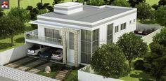 Planta de Sobrado - 3 Quartos - 326.24m² - Monte Sua Casa