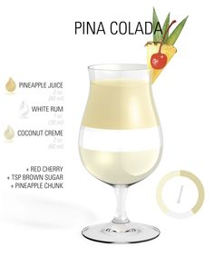 #Cocktail #Recipe - Pina Colada