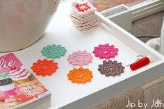 My home sweet home: mijn favoriete haakplek  Jip by Jan #Crochet coasters - Onderzetters #haken