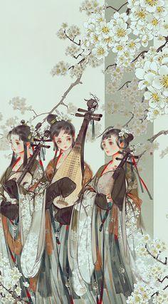 Art by Wenjie. Kunst Inspo, Art Inspo, Art And Illustration, Fantasy Kunst, Fantasy Art, Art Asiatique, China Art, Anime Art Girl, Princesas Disney