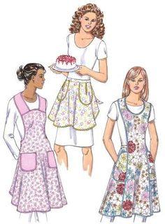 Kwik Sew 3396 Misses Aprons sewing pattern Retro Apron Patterns, Vintage Apron Pattern, Aprons Vintage, Vintage Sewing Patterns, Dress Patterns, Pattern Sewing, Linen Apron, Kwik Sew, Sewing Aprons