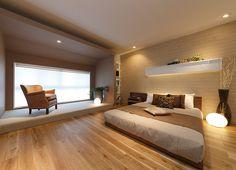 ハウジングパーク・モデルハウス案内|フォトギャラリー|千葉県君津市|ウィザースホーム Japanese Modern House, Japanese Home Decor, Bedroom Decor For Small Rooms, Spa Rooms, Zen Room, Bed Styling, Minimalist Bedroom, Home Interior Design, Master Bedroom