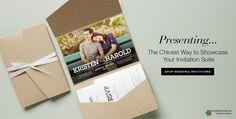 Pocket Fold Enclosures and Pocket Wedding Invitations
