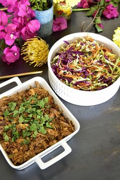 Mexican Style Pulled Pork & Cabbage Salad - a zesty life Pork And Cabbage, Cabbage Salad, Mexican Style, Jamie Oliver, Pulled Pork, Pork Recipes, Content, Dishes, Amazing