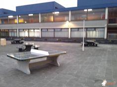 Pingpongtafel Afgerond Groen bij Stedelijk College Zoetermeer in Zoetermeer