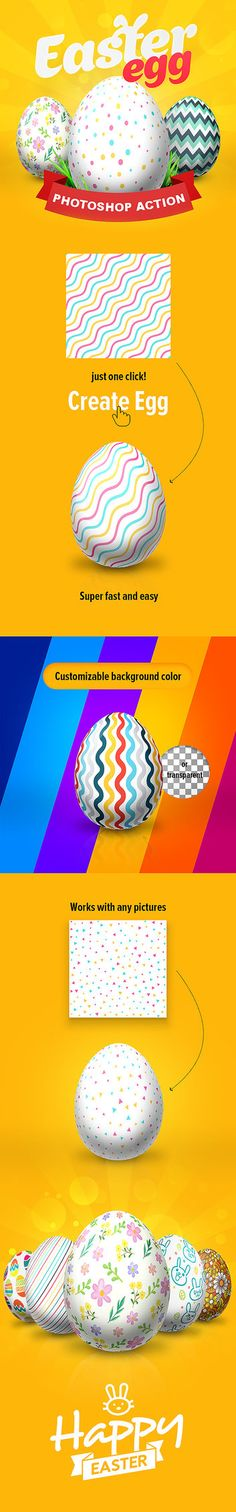 DOWNLOAD: goo.gl/67UIOvEaster Egg – Photoshop ActionPhotoshop actions to create Easter eggOne click actionFast and easyMultilingual action work in Photoshop with any language UINo...