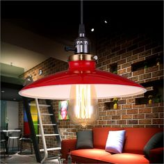 3COLORS FREE SHIPPING!Nordic European American industry Bar Cafe Retro loft den LOFT creative personality style chandeliers UFO