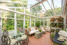 Nature all around, but in a fully heated Sun Room! The perfect place to enjoy 14 Old Boonton Road in Denville's acres. Wide Plank Flooring, Real Estate Companies, Conservatory, Luxury Real Estate, Perfect Place, Outdoor Living, Living Spaces, Places, Modern