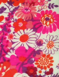 Lovely retro 60s swedish vintage mod fabric pattern. by Inspiria, $14.00