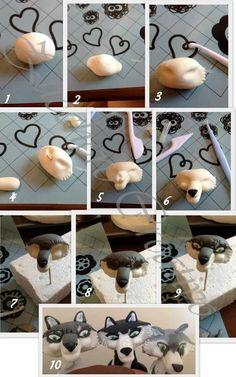 step by step Porcelana fria polymer clay pasta francesa masa flexible fimo modelado modelling figurine topper fondant
