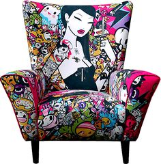 Tokidoki pattern for any chair awesome http://patriciaalberca.blogspot.com.es/