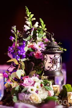 Tangled inspired wedding centerpiece at an Epcot wedding in The Living Seas Salon. Disney World Wedding, Disney Bride, Disney Inspired Wedding, Disney Wedding Centerpieces, Wedding Themes, Wedding Ideas, 1920s Wedding, Themed Weddings, Wedding Reception