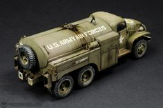 Us Army Vehicles, Armored Vehicles, Plastic Model Kits, Plastic Models, Fuel Truck, Model Tanks, Military Modelling, Military Diorama, Abandoned Cars
