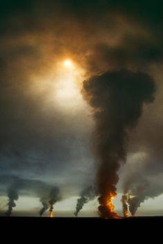"""""""Ahmadi Oil Fields, Kuwait"""" by Steve McCurry"""