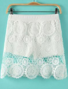 Floral Crochet Lace Skirt