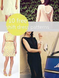 10 free shift dress patterns