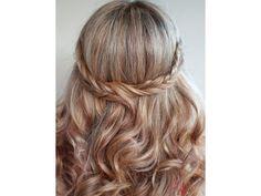 Peinado novia media cola trenza en corona / peinado de novia