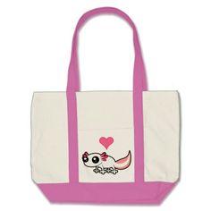 Axolotl Love (white) Tote Bag