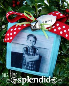 Photo Christmas List Ornament Tutorial - Positively Splendid {Crafts, Sewing, Recipes and Home Decor}