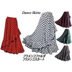 Dance skirt Flamenco costume flamencofalda Flamenco skirt dot polka-dot pattern 6 color
