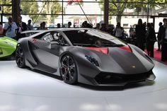 Lamborghini Sesto Elemento Concept Car black front