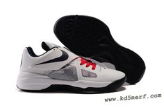 Nike Zoom KD Kevin Durant Shoes White Red