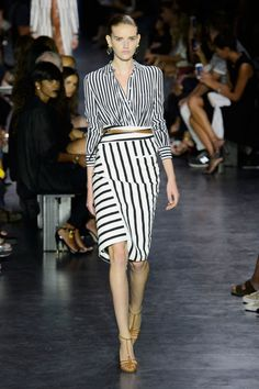 Altuzarra Spring 2015, Look 12: My dream, stripes in all sizes.