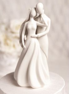 Romantic Wedding Cake Toppers | This romantic wedding cake topper figurine features a bride and groom ...