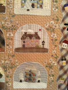 The Quilt Festival Exhibit of Japanese quilts inspired by the work of Reiko Kato (one of my first quilt crushes!) Close up shot 6/9