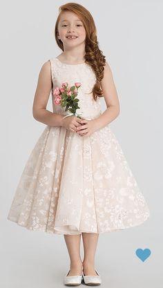 606361dd234 Flutter-Sleeve Dessy Girl Flower Girl Dress FL4046