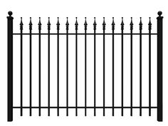 wrought iron fence iron fence shop regarding rod iron fencing inspirations wrought iron fence cost vs wood